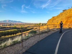 (Kaitlyn Bancroft | The Salt Lake Tribune) The Mayor's Loop trail and several other trails that connect to it are popular places in St. George, Utah to walk, jog or bike.