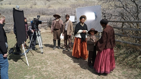 (Courtesy Excel Entertainment) Actors portraying the Manning family are seen on the set of the upcoming feature film tentatively titled