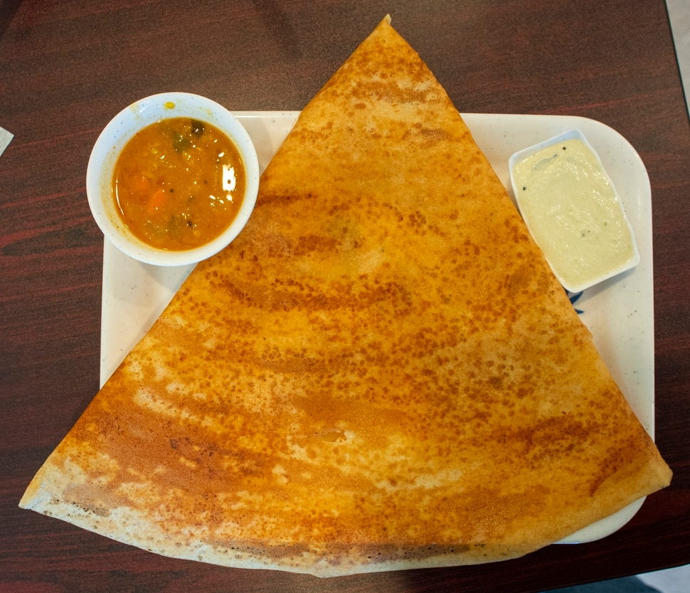 (Rick Egan | The Salt Lake Tribune) Panner Dosa at Sri Balaji Caffe, a new vegetarian restaurant that specializes in Indian Street Food in West Jordan. Thursday, Jan. 3, 2019.