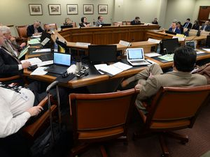 (Steve Griffin  |  Tribune file photo) This 2017 file photo shows Utah legislators meeting in a committee hearing at the state Capitol.   Sen. Todd Weiler, R-Woods Cross, right, as explains SB0185S during the House Judiciary Standing Committee meeting at the State Captiol in Salt Lake City Friday March 3, 2017. SB0185S deals with cause of action for minors injured by pornography.