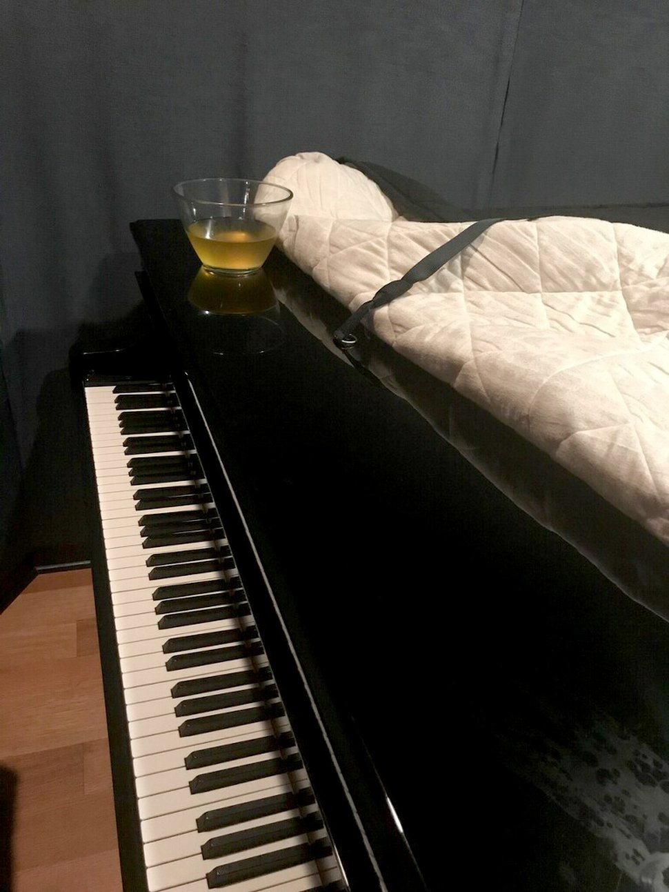 (The Washington Post) A cup of urine sits on a piano in a recording studio at RCA in Los Angeles after a session by R. Kelly in this photo from a recording studio representative.