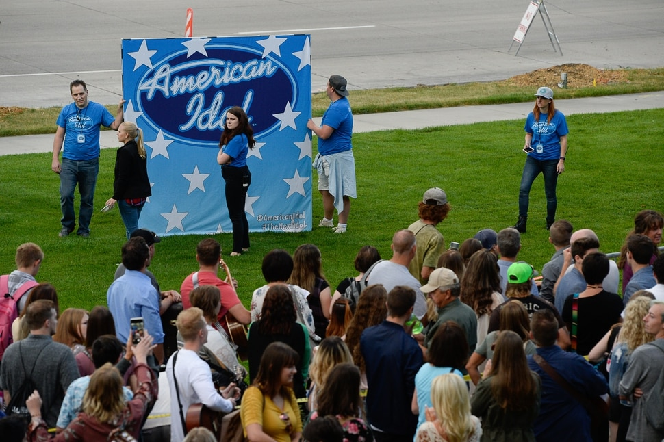 (Francisco Kjolseth | The Salt Lake Tribune) American Idol hopefuls line up to audition in downtown Provo on Wednesday morning, Aug. 23, 2017, for the revived show, which is moving to ABC and will air in early 2018.