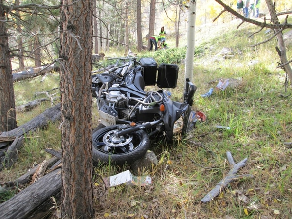 (Courtesy of Utah Highway Patrol) A Colorado man, Edgar Riecke, died Oct. 11, 2014, after a tree fell right in front of him on State Route 12 in Garfield County, according to the Utah Highway Patrol.