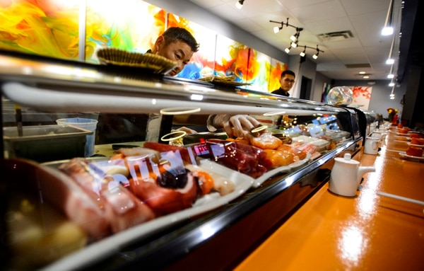 (Steve Griffin | The Salt Lake Tribune) The bar area of Soy's Sushi Bar & Grill in Murray.