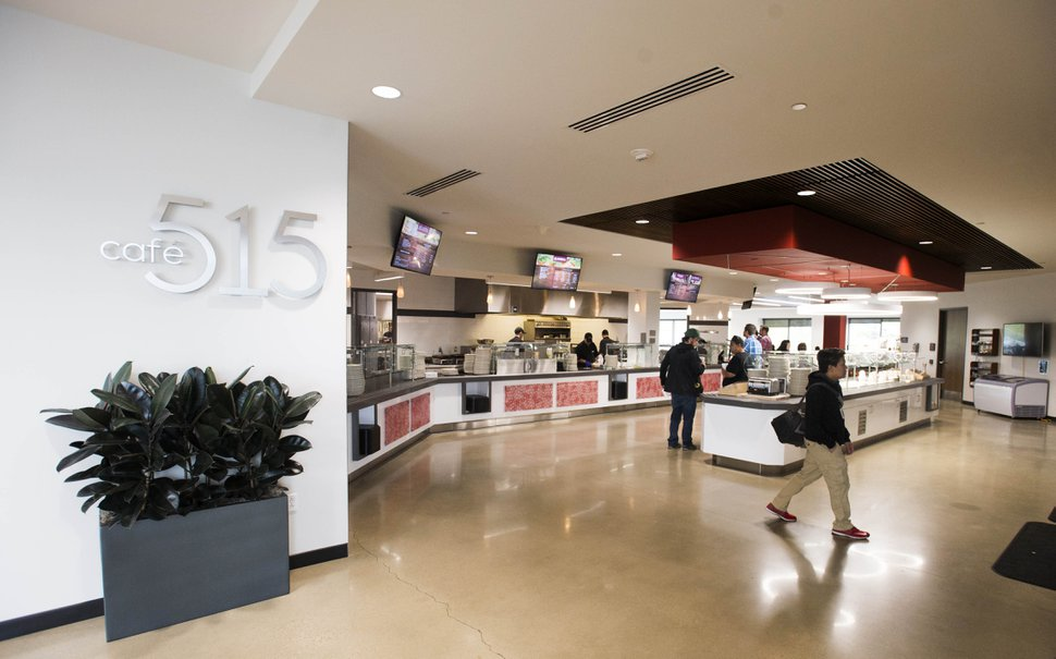(Rick Egan | The Salt Lake Tribune) THe cafeteria at BioFire Diagnostic at Research Park. BioFire Diagnostic is one of the top performing companies in the Top Workplaces competition,Thursday, September 28, 2017.