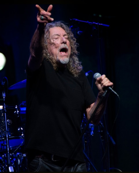 (Rick Egan | The Salt Lake Tribune) Former Led Zeppelin singer Robert Plant performs Whole Lotta Love with his backing band, the Sensational Space Shifters, at the Eccles Theater, Tuesday, Oct. 1, 2019.