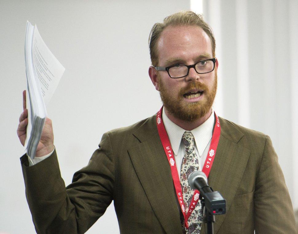 Steve Griffin | The Salt Lake Tribune Alex Cragun, executive director of the Utah Democratic Party.