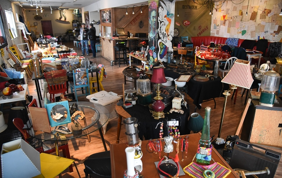(Francisco Kjolseth | The Salt Lake Tribune) The E'klektik restaurant in SLC will close its doors for good on Jan. 31. The owners are selling all the eclectic items that made the restaurant unique including antiques, collectibles, jewelry, clothing, art and more.