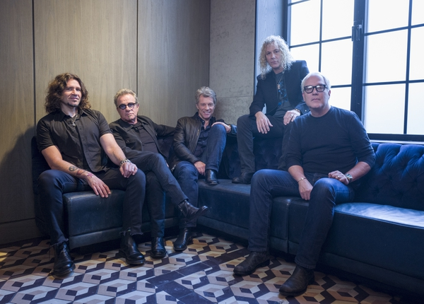 (Drew Gurian | Invision/AP file photo) In this Oct. 19, 2016 photo, members of Bon Jovi from left, Phil X, Tico Torres, Jon Bon Jovi, David Bryan and Hugh McDonald pose for a portrait in New York. The band will be inducted into the Rock and Roll Hall of Fame on April 14, 2018 in Cleveland, Ohio.