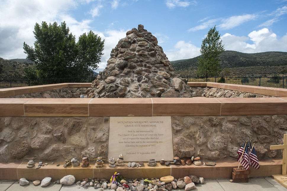(Chris Detrick | Tribune file photo) The Mountain Meadows Massacre grave site memorial Saturday, Sept. 9, 2017.