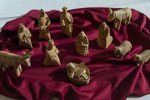 (Rick Egan | The Salt Lake Tribune)  A handcarved Nativity scene.
