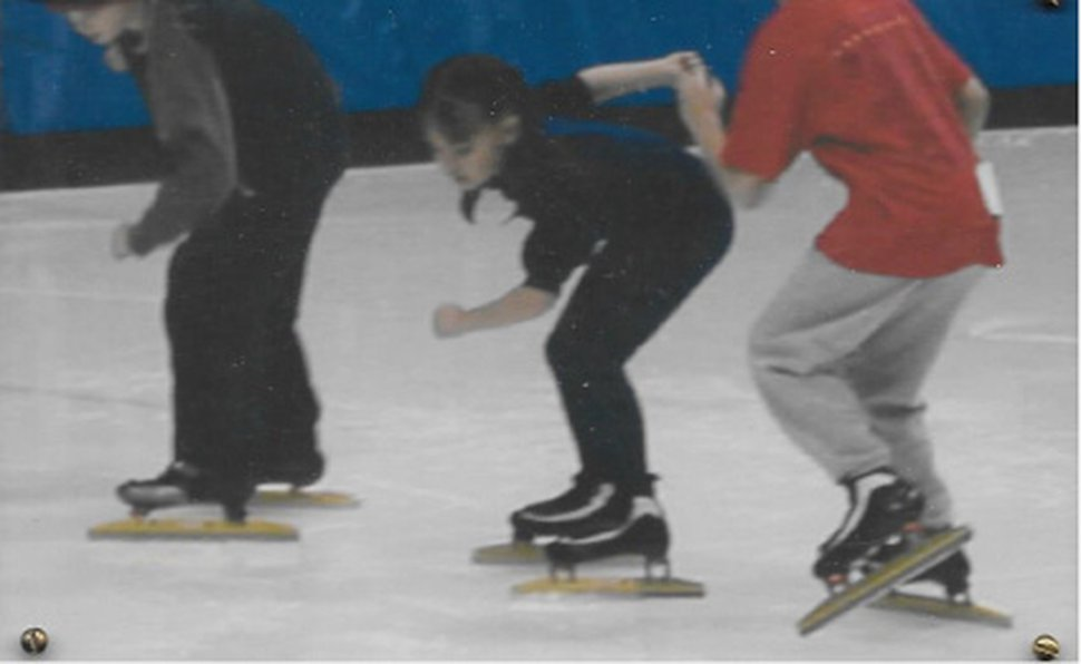 (Courtesy Photo) Jerica Tandiman, center, skates at the Olympic Oval in Kearns.