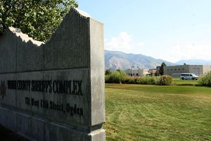 (Leah Hogsten | The Salt Lake Tribune)  Weber County Sheriff Complex  entrance Thursday, September 15 2011. Weber County Jail faced a federal audit and failed in several areas, forcing them to give up housing ICE detainees and likely costing the jail as much as $1.6 million next year in federal money.