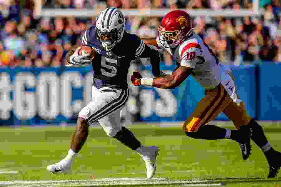 BYU running back Ty'son Williams announces he is out for the season with a torn ACL