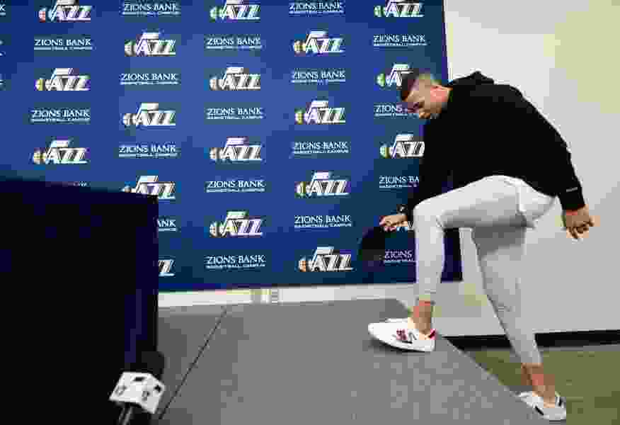 The Utah Jazz's practice facility is humming with activity, even though training camp is a week away