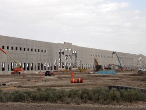 (Ed Kosmicki   Special to The Tribune) One of the many, huge distribution centers now under construction west of Salt Lake City, at the site of a proposed inland port by the State of Utah Thursday, June 10, 2021.