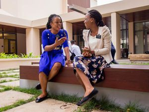 (The Church of Jesus Christ of Latter-day Saints) The interior courtyard of the Ghana Missionary Training Center in Accra. The Ghana MTC is one of three Latter-day Saint MTCs that will welcome back a limited number of missionaries for on-site training starting in late June.