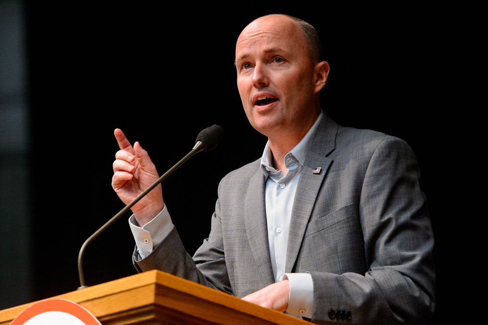 (Trent Nelson | The Salt Lake Tribune) Utah Lt. Gov. Spencer Cox at the Utah Republican Party's 2019 Organizing Convention at Utah Valley University in Orem on Saturday May 4, 2019.