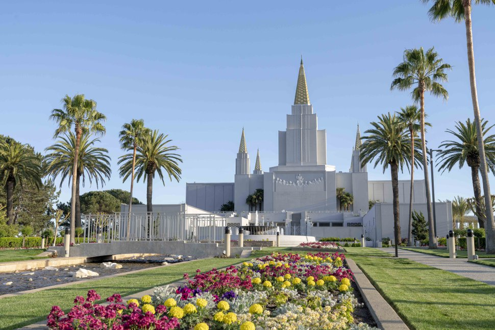 (Photo courtesy of The Church of Jesus Christ of Latter-day Saints) The newly renovated Oakland Temple.