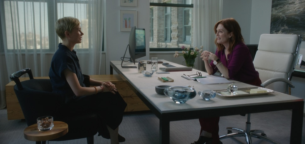 (Julia Macat | courtesy Sundance Institute) Michelle Williams, left, and Julianne Moore star in director Bart Freundlich's drama After The Wedding, which will screen in the Premieres section of the 2019 Sundance Film Festival.