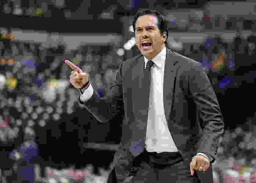 On the mind of Miami Heat coach Erik Spoelstra these days: A berth, and a birth