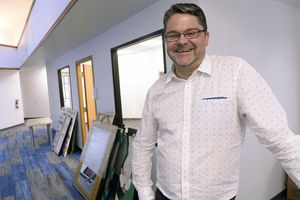 (Al Hartmann  |  The Salt Lake Tribune)  Rob Moolman, new executive director of the Utah Pride Center. He and the staff are in the process of moving in and setting up the new location at 1380 S. Main St. in Salt Lake City.