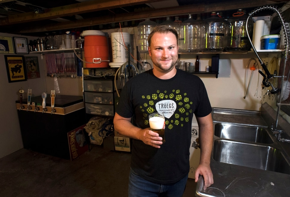 (Rick Egan | The Salt Lake Tribune) Salt Lake City resident Zachary Belles was named Utah's best home brewer during the 2018 Beehive Brewoff last month. Tuesday, Sept. 4, 2018.