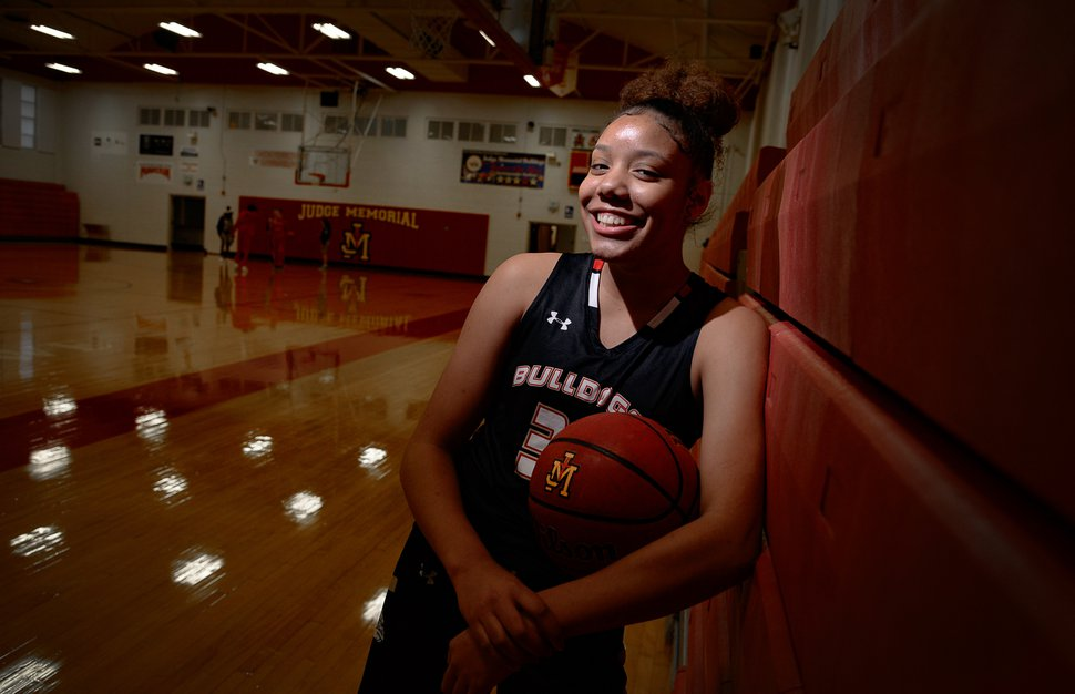 (Francisco Kjolseth   The Salt Lake Tribune) Teya Sidberry is just a sophomore on Judge Memorial's girls basketball team and is leading the state in scoring, and also averaged a double-double as a freshman.