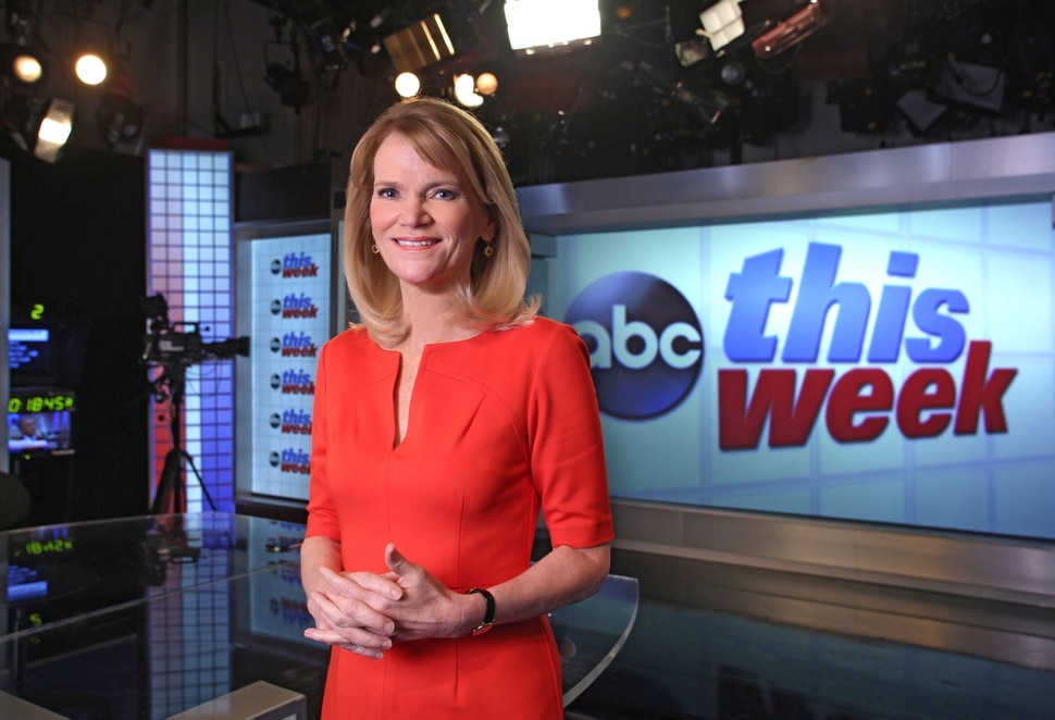 """(Photo courtesy Martin H. Simon/ABC News) Chief global affairs correspondent Martha Raddatz is co-anchor of """"This Week with George Stephanopoulos."""""""