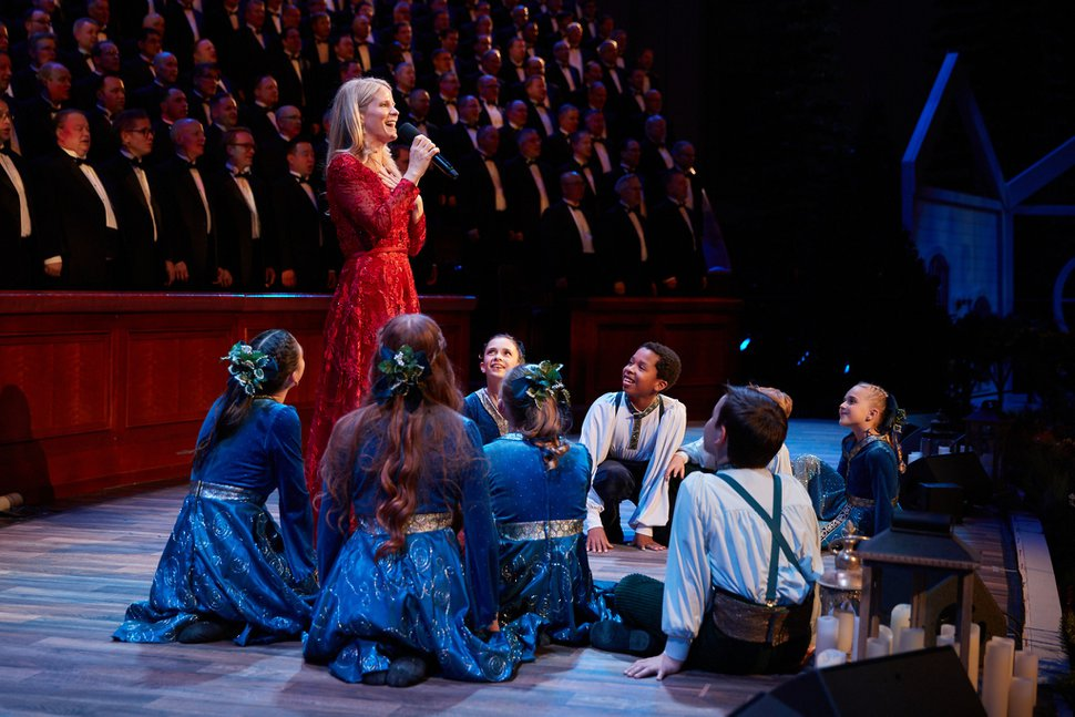 (Photo courtesy of The Church of Jesus Christ of Latter-day Saints) The Tabernacle Choir and Orchestra at Temple Square Christmas concert is alive with music of the season featuring Broadway star Kelli O'Hara in the Conference Center on Thursday, Dec. 12, 2019.