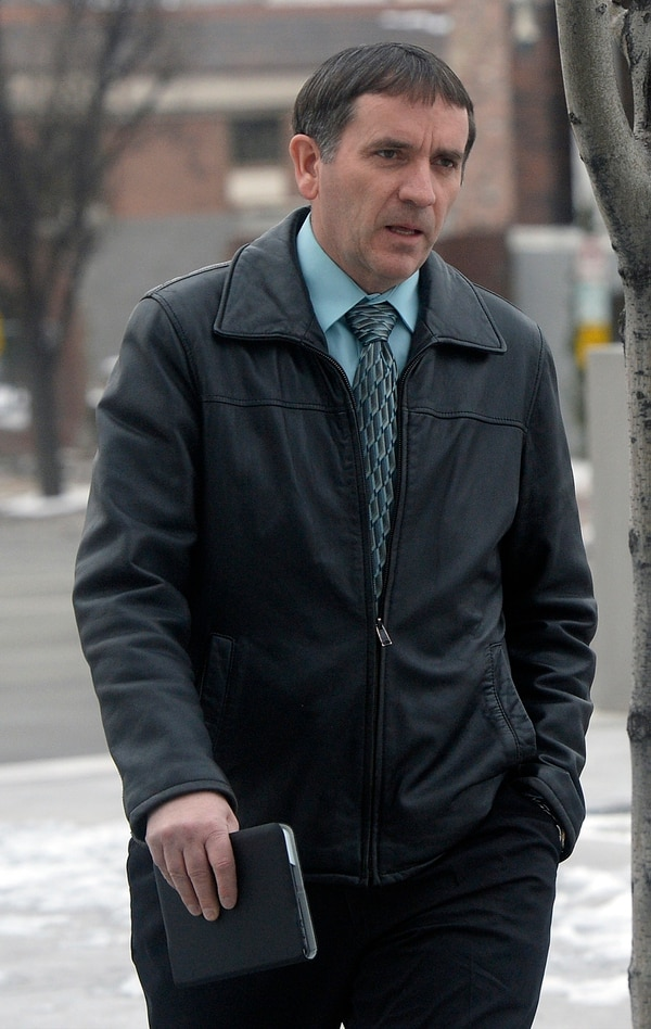 (Al Hartmann | The Salt Lake Tribune) Brian Jessop, head of Paragon Contractors and a Hildale city council member, walks to federal court for trial in Salt Lake City, Tuesday, Feb. 27, 2018. Paragon Contractors is accused of using FLDS child labor under the corporate name of Par 2.