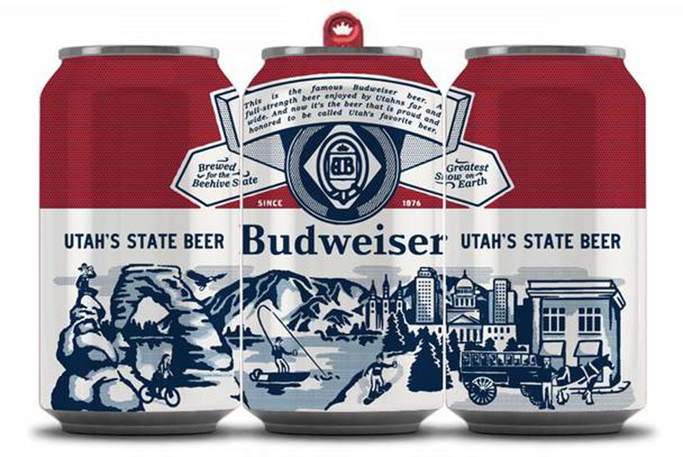 (Photo courtesy of Anheuser-Busch InBev) A new advertising campaign aims to make Budweiser the official beer of the Beehive State — complete with its own commemorative can.