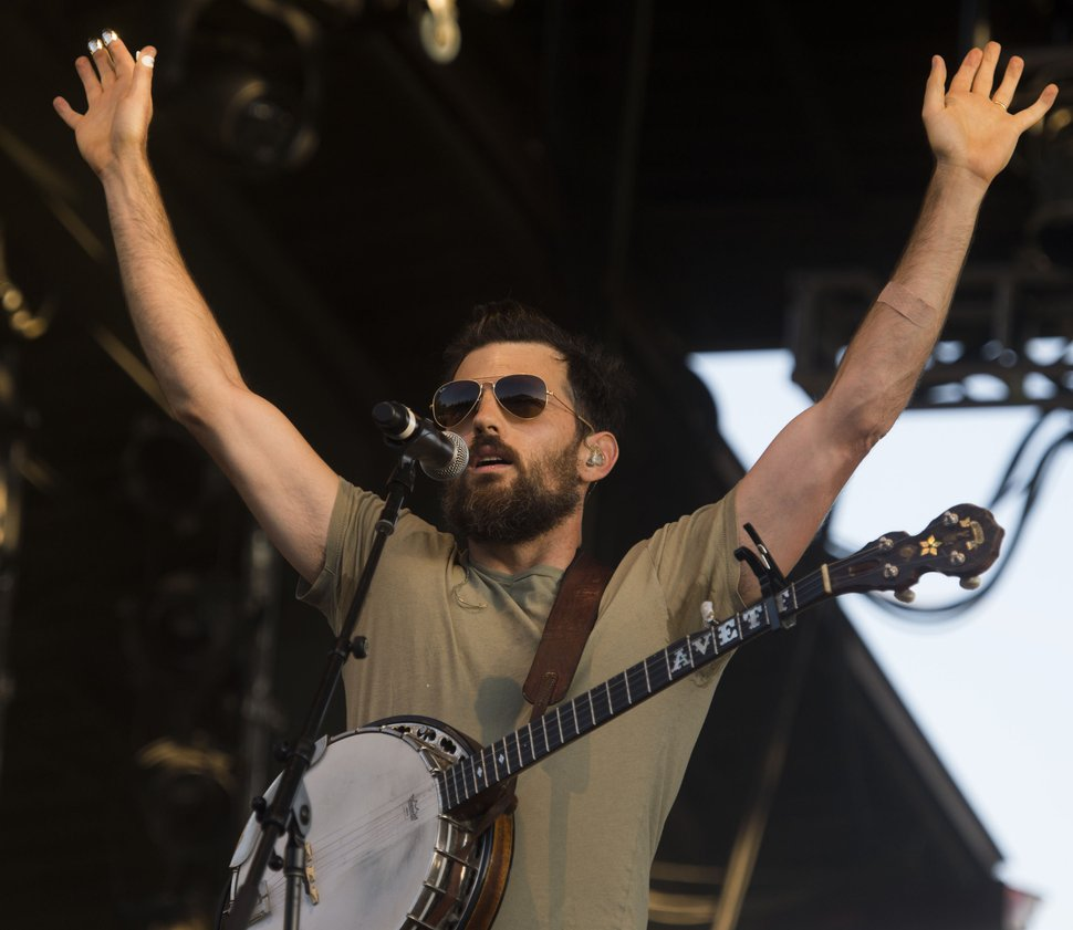 Steve Griffin / The Salt Lake Tribune Scott Avett of the Avett Brothers performs in concert at the Red Butte Garden Amphitheatre in Salt Lake City, Tuesday, July 26, 2016.