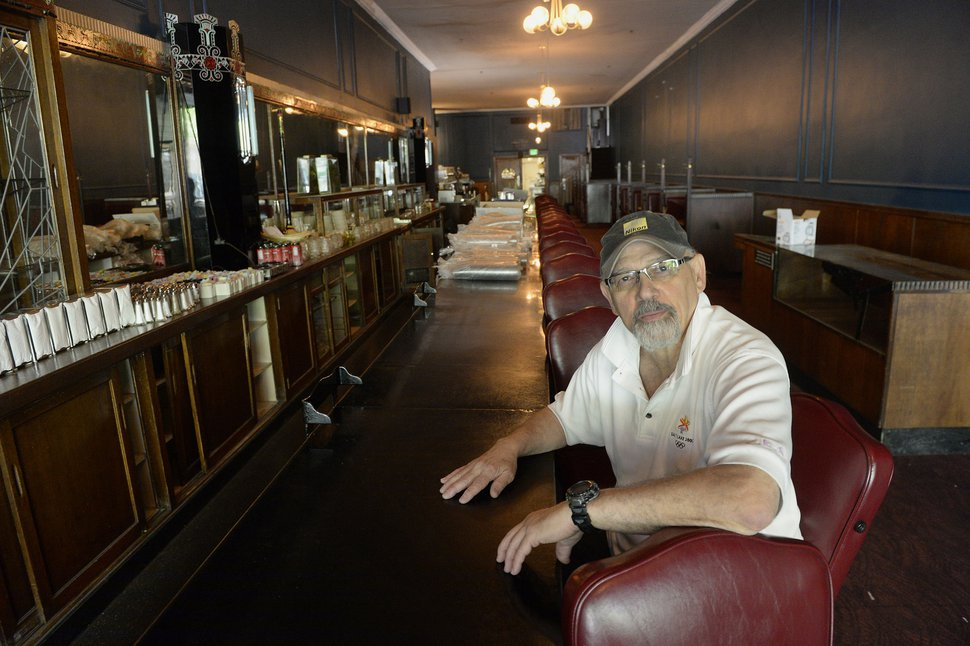 Al Hartmann | The Salt LakeTribune John Speros sits at the Lamb's Grill counter in 2017, after his family decided to shutdown the iconic restaurant.