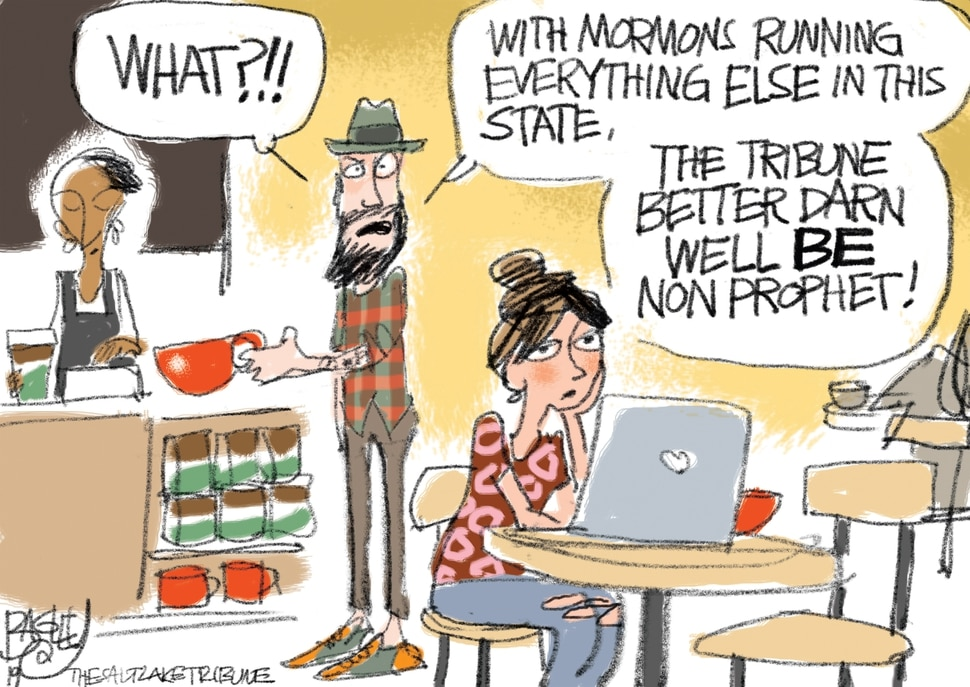 (Pat Bagley | The Salt Lake Tribune) This cartoon, titled A New Hope, appears in The Salt Lake Tribune on Tuesday, Nov. 5, 2019.