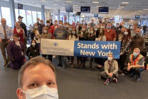 (Photo Courtesy of Intermountain Healthcare) Intermountain medical staff flew to New York to help fight the coronavirus there.