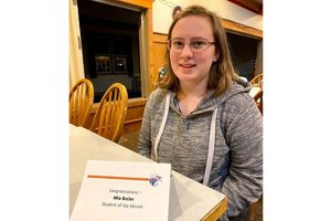(Courtesy of Matthew Eccles) Mia Eccles celebrates an award from Syracuse Junior High. Eccles was notified she was exposed to COVID-19 at school, but the alert arrived a full week after the exposure occurred.
