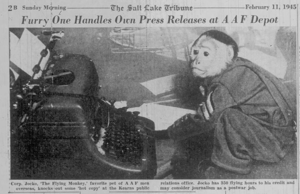 (Photo courtesy of Robert Kirby) From the pages of The Salt Lake Tribune in 1945.