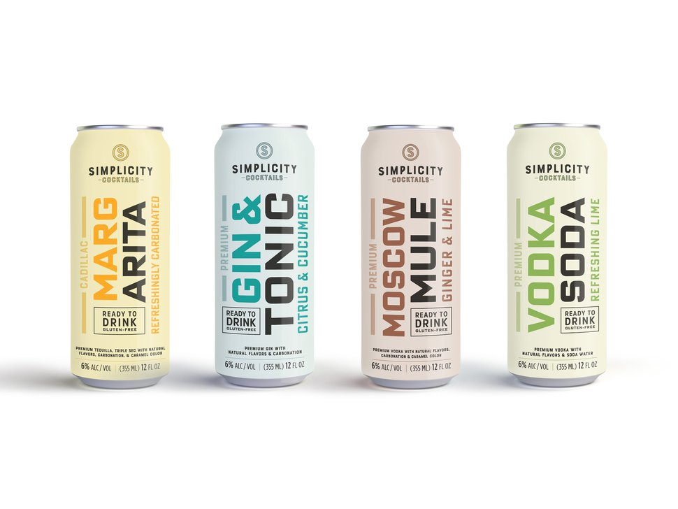 (Photo courtesy of Simplicity Cocktails) Salt Lake City-based Simplicity Cocktails has introduced four cocktails in a can.