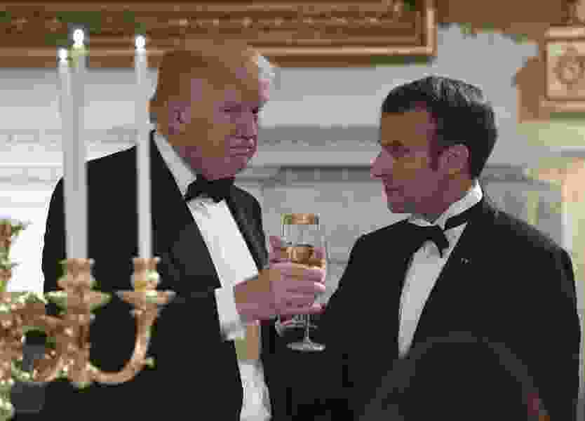 Letter: Trump's dinner with Macron, paid with our tax dollars, was all about the 1 percent