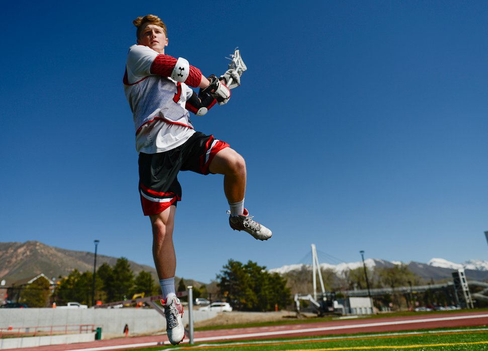 (Francisco Kjolseth | The Salt Lake Tribune) Josh Stout is one of the nation's leaders in goals, in Utah's first season of Division I lacrosse.
