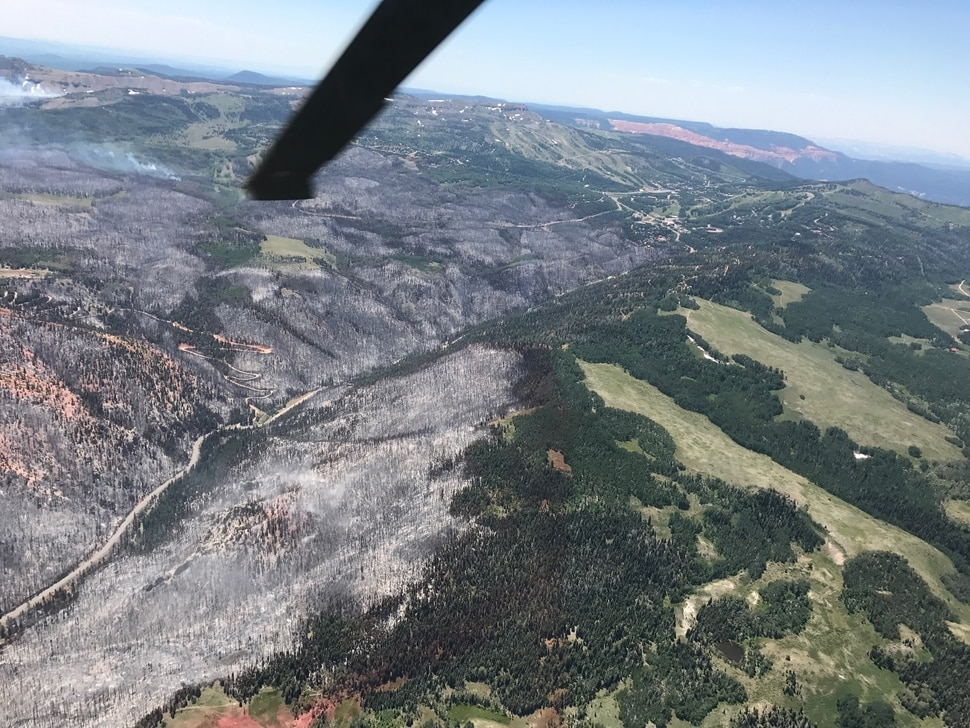 | Courtesy Governor's Office Aerial views of the Brian Head Fire.