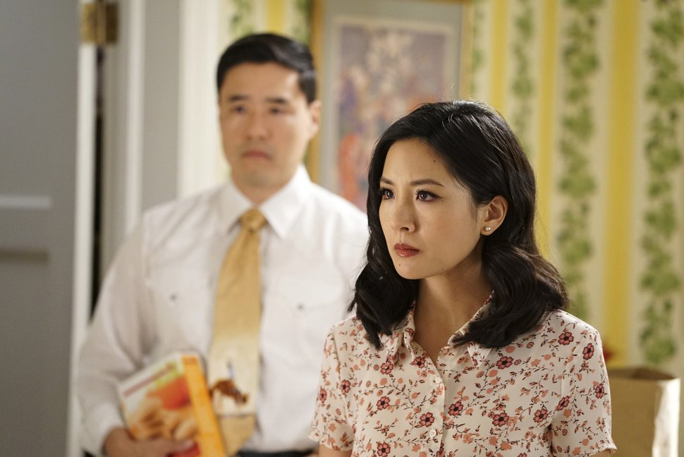 """(Photo courtesy Eric McCandless/ABC) Randall Park and Constance Wu in an episode of """"Fresh Off the Boat."""""""