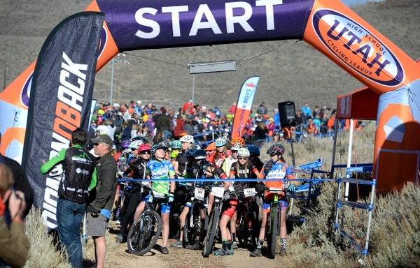 (Scott Sommerdorf   The Salt Lake Tribune) The pack of racers in the Utah High School Cycling League