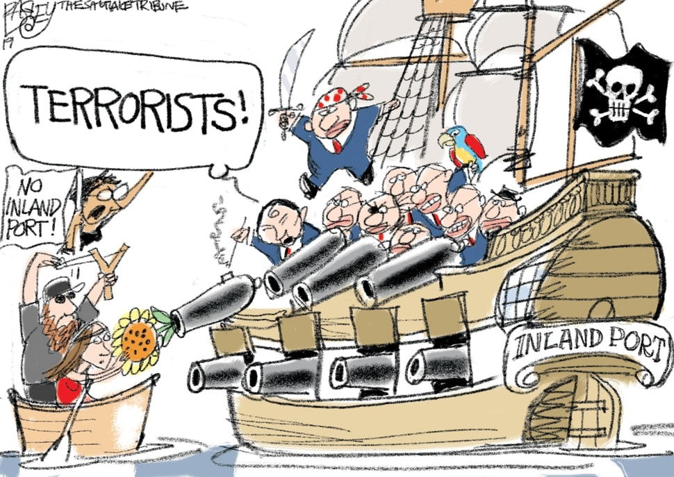 (Pat Bagley | The Salt Lake Tribune) This Pat Bagley cartoon, titled Talk Like a Pirate, appears in The Salt Lake Tribune on Thursday, July 11, 2019.