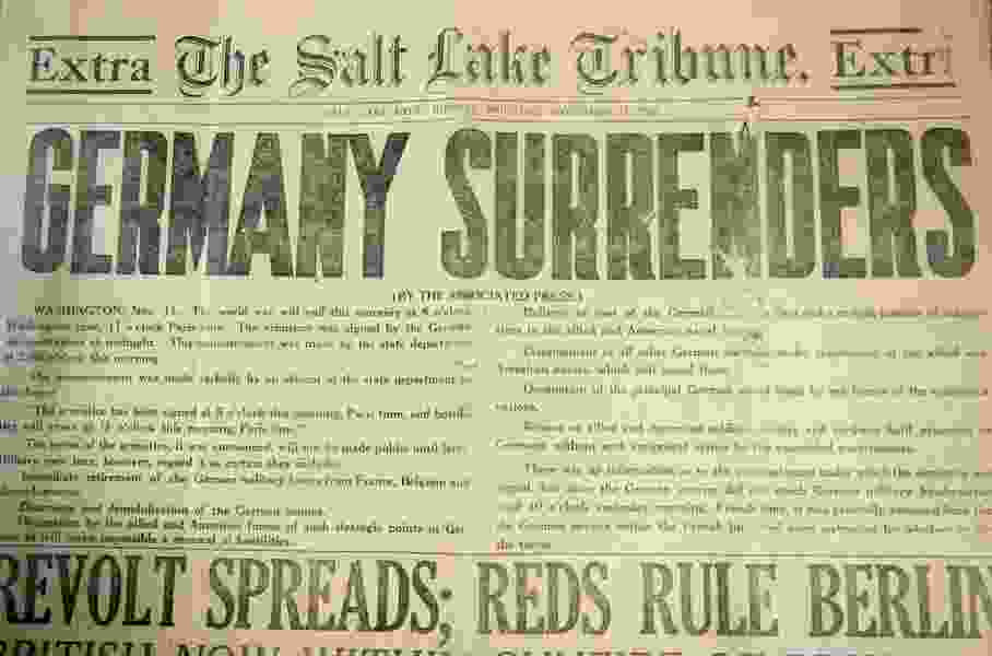See The Salt Lake Tribune when WWI ended 100 years ago