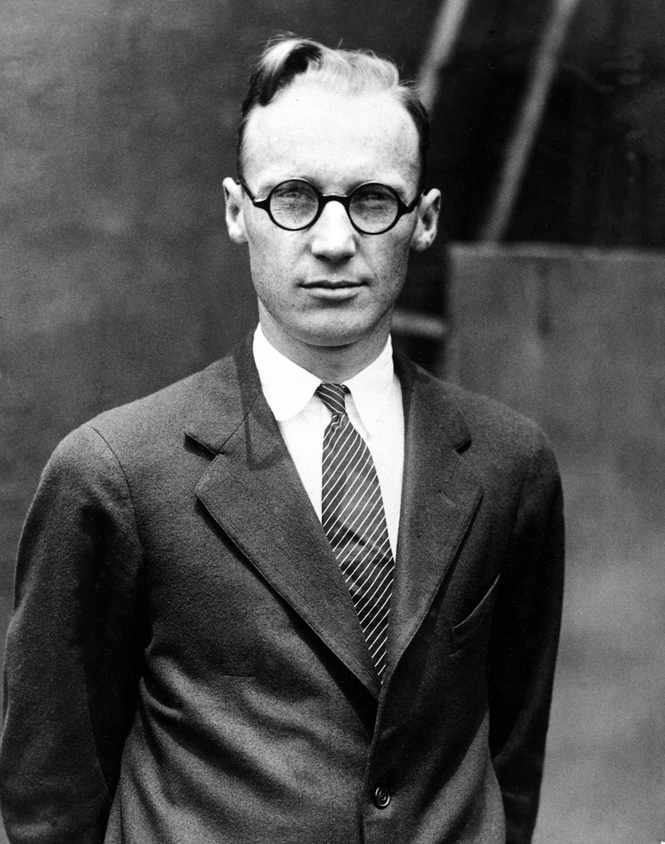 (AP Photo) In this July 1925 file photo, John T. Scopes, a high school biology teacher charged with teaching evolution, poses for a photo at the time of his trial that was dubbed the