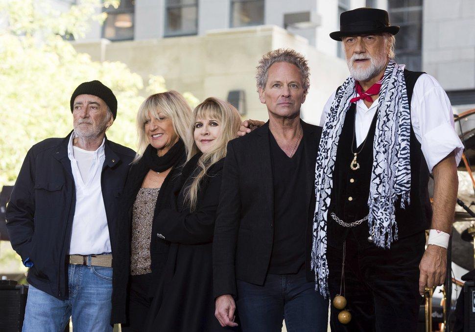 AP file photo From left, Fleetwood Mac's John McVie, Christine McVie, Stevie Nicks, Lindsey Buckingham and Mick Fleetwood