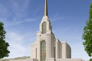 (Rendering courtesy of The Church of Jesus Christ of Latter-day Saints) The Syracuse Utah Temple