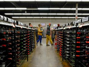 (Francisco Kjolseth     The Salt Lake Tribune)  The day before Thanksgiving is the busiest day of the year at Utah's state-run liquor stores, and the store in Cottonwood Heights at 1863 E. Fort Union Blvd., makes the most sales in the state, as long lines form inside the store.
